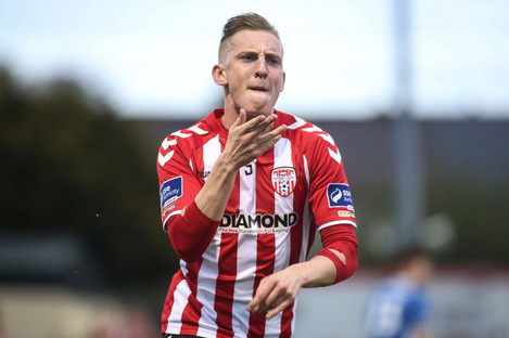 Curtis has scored six goals in the Premier Division this season.