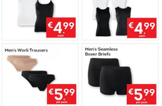 Lidl Ireland had to explain a mortifying typo on these 'men's work trousers' in its latest newsletter