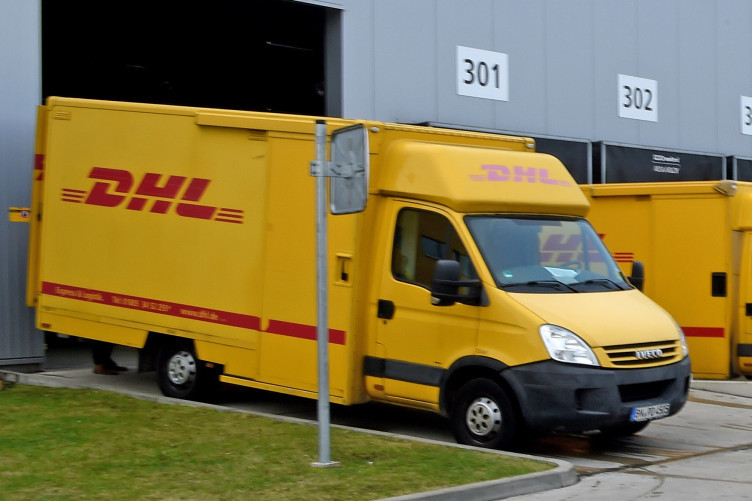 File Photo: DHL delivery vans.