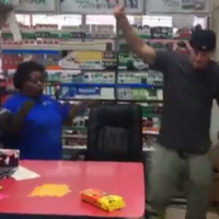Channing Tatum went a bit Magic Mike in a petrol station newsagents with the lady behind the till