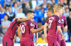 Ruthless Aguero makes the difference for Guardiola as Man City down Brighton