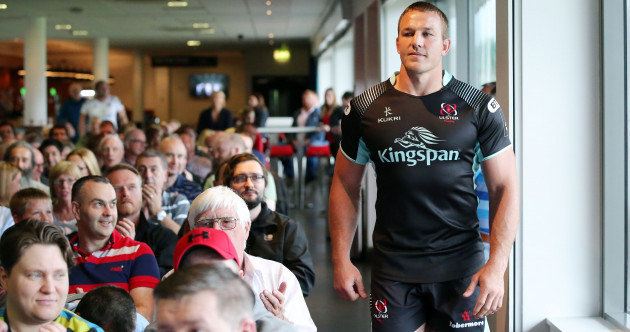 Jean Deysel was bursting out of the new Ulster jersey at this evening's launch