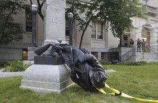 Protesters in North Carolina topple Confederate soldier statue