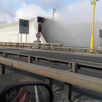 A truck on fire in Dublin's Port Tunnel has been brought under control
