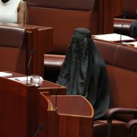 Right-wing anti-immigrant politician wears burqa in Australian parliament