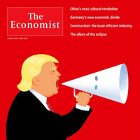 People are applauding The Economist's genius front cover depicting Trump with this megaphone