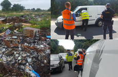 Armed gardaí join forces with Fingal County Council to target illegal dumpers