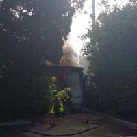 Dublin Fire Brigade tackles blaze at ESB hub in Milltown