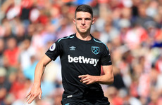 18-year-old Irish international Declan Rice makes first start for West Ham at St. Mary's