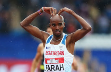 Mo Farah's last ever track race in the UK finished in victory today