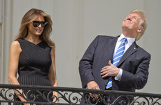 Trump stared directly at the solar eclipse without glasses on and it's already a brilliant meme
