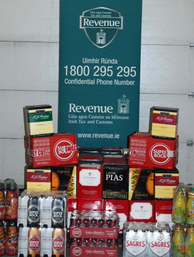 Over 500 litres of cheap alcohol and counterfeit vodka seized in Dublin and Cork