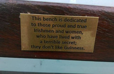 Someone has erected a plaque for non-Guinness drinkers on Dublin's Grattan Bridge