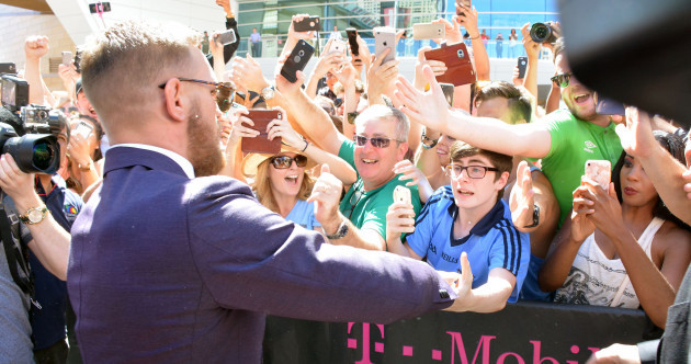 'The Irish are rolling in' as McGregor declares himself the 'new god of boxing'