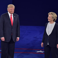 'Back up you creep' - Hillary Clinton speaks about Donald Trump looming behind her during debate