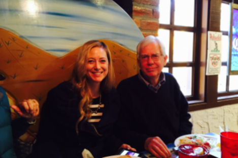 Molly Martens-Corbett and her father, Tom.