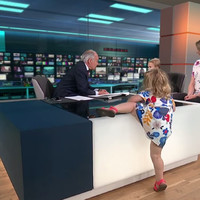 An ITV News interview was brilliantly interrupted by a toddler rampaging around the studio