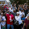 Colin Kaepernick's backers rally in support of controversial QB