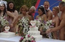Naked wedding picture