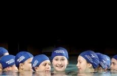 In time: synchronised swimmers dive in at National Acquatic centre