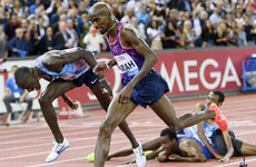 Mo Farah wins his last ever track race after thrilling finish in 5,000m