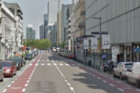 The Boulevard Emile Jacqmain where the attack happened.