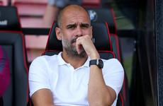 Watch: Pep Guardiola baffled by Raheem Sterling red card