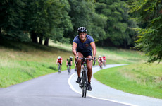 Leo Varadkar was among 1,100 competitors in this morning's Dublin City Triathlon