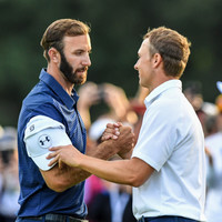 Dustin Johnson and Jordan Spieth ended up in a gripping play-off last night