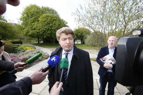 File photo of Brian O'Donnell speaking to reporters.