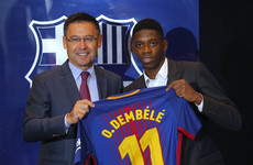 Dembele's Barca presentation marred by jeers and calls for president to resign
