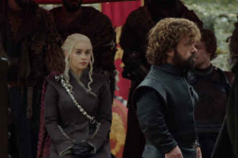 A screengrab from an episode of Game of Thrones.