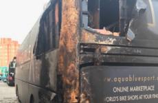 Irish team, Aqua Blue Sport, has bus destroyed in 'cowardly arson attack'
