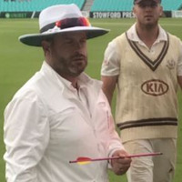 Oval cricket ground evacuated after crossbow bolt lands on pitch