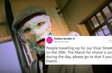 Rubberbandits are encouraging fans going to their Vicar Street gig to attend the March For Choice