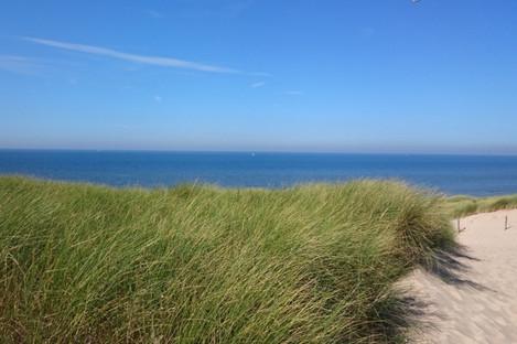 The North Sea coast near Egmond aan Zee, Netherlands.