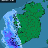 Rainfall warnings in place for 11 counties