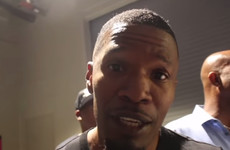 Jamie Foxx attempted a Conor McGregor impression and he really made a hames of it