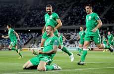 Watch: Shane Duffy scores first international goal for Ireland against Georgia