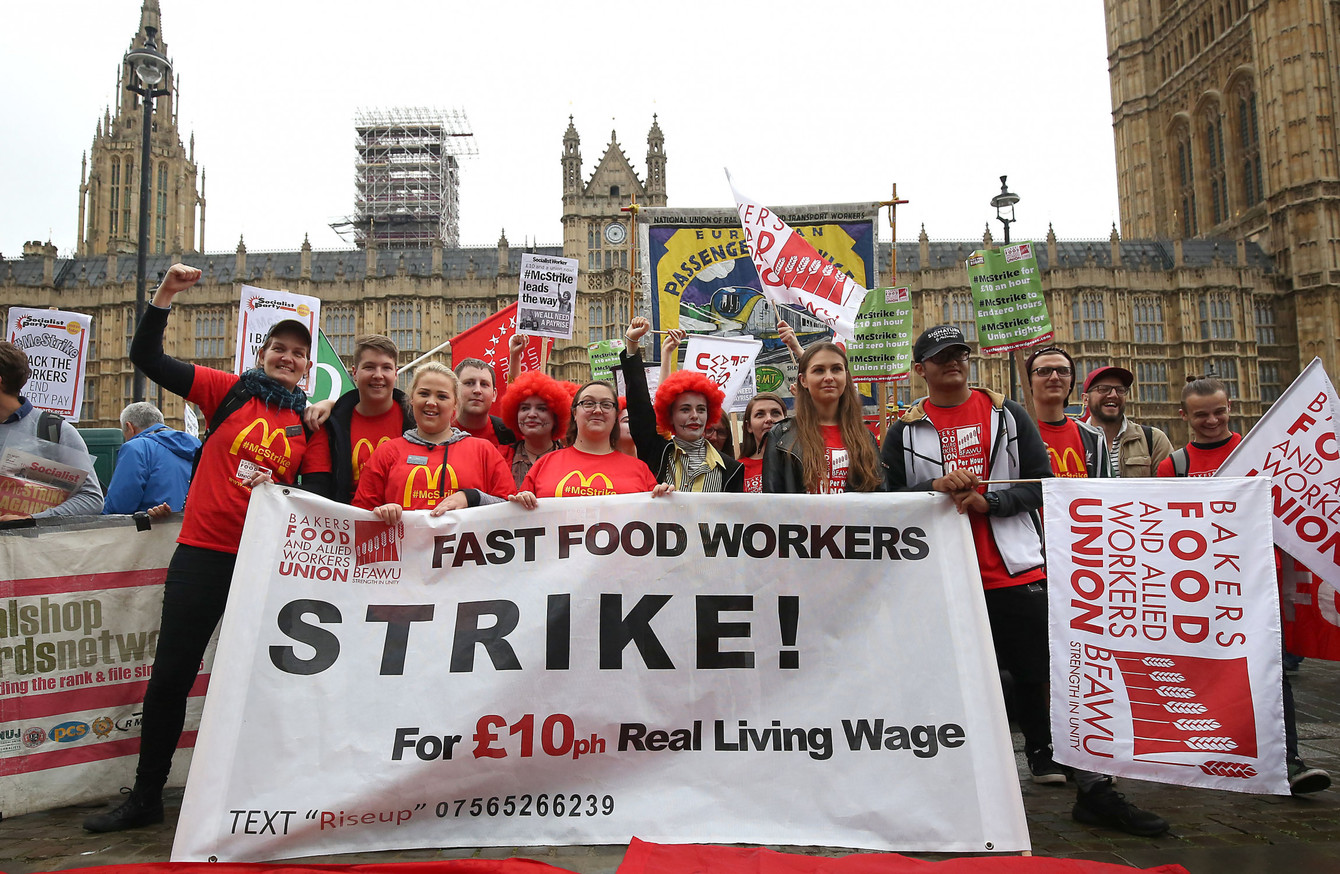McDonald's staff hold first-ever UK strike over pay and