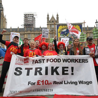 McDonald's staff hold first-ever UK strike over pay and working conditions