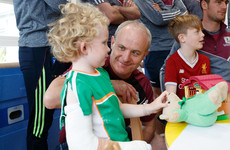 Galway's All-Ireland winners visit Crumlin Children's Hospital with Liam MacCarthy