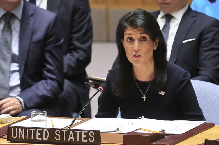 The US ambassador to the UN called for the strongest diplomatic measures