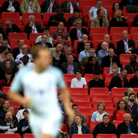 Lowest Wembley crowd for an England game in three years as they beat Slovakia