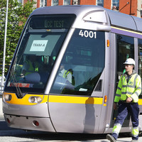 Luas Cross City testing disrupted by parked vans and trucks on route