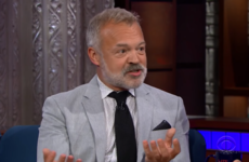 Graham Norton told Stephen Colbert the secret to his great celeb interviews (it's drink, BTW)