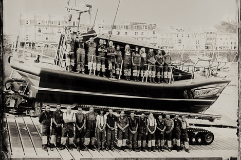 Lowe captured RNLI volunteers in Ilfracombe in 2015