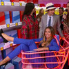 Heidi Klum just launched her new Lidl fashion line on a fake supermarket floor in New York