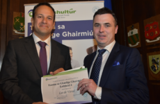Taoiseach 'Leo de Varad' has been given a certificate for Irish-speaking skills