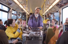 Lords of Strut held a dance party on the DART this week and people were surprisingly up for it